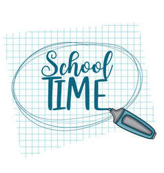 school time doodle clip art greeting card vector image vector image