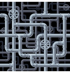 Seamless pipes background vector image