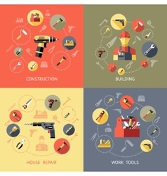 Work Tools Compositions vector image