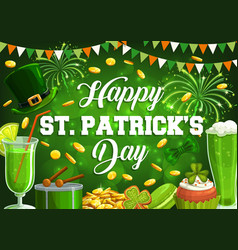 17 march st patricks day spring holiday feast vector