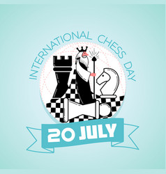 20 july international chess day vector