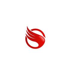 abstract wing air logo vector image