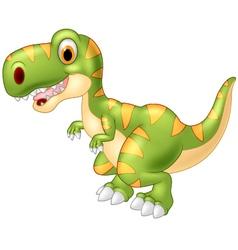 Adorable dinosaur tyrannosaurus isolated on transp vector image vector image