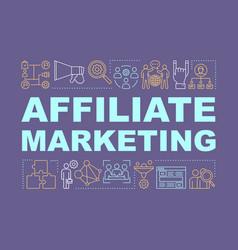 Affiliate marketing word concepts banner digital vector