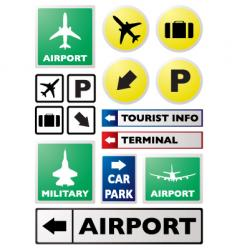 airport sign vector image vector image