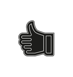 approved sign - hand thumb up icon - like social vector image