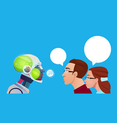 Artificial intelligence people communication with vector