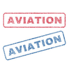 Aviation textile stamps vector