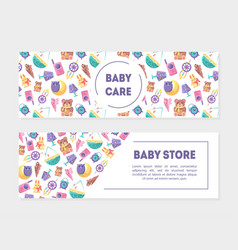 Bacarem bastore banner templates with cute vector