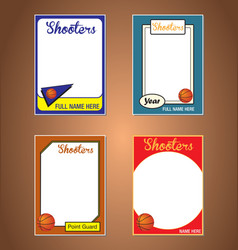 Basketball cards vector