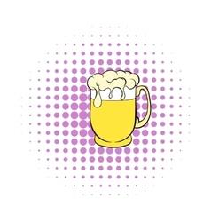 Beer mug icon comics style vector image