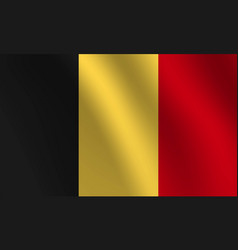 belgium national flag vector image