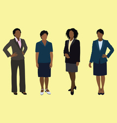 black businesswomen vector image