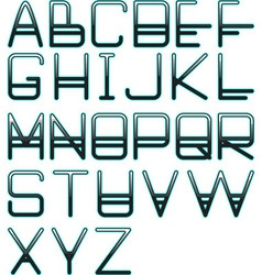 blue glow alphabet vector image