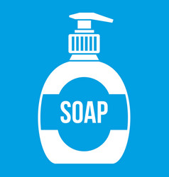 Bottle of liquid soap icon white vector