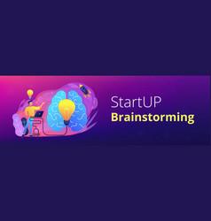 brainstorm header or footer banner vector image