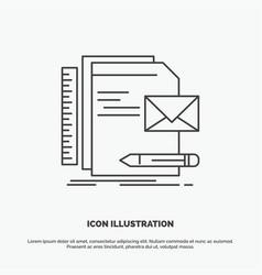 brand company identity letter presentation icon vector image