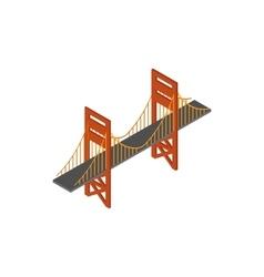 Bridge icon isometric 3d style vector image