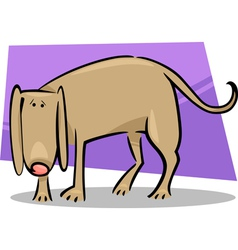 cartoon doodle of sad dog vector image