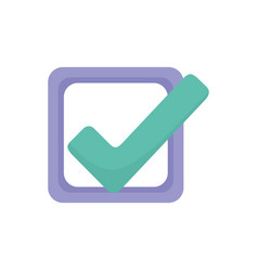 Check mark approve like signal icon vector