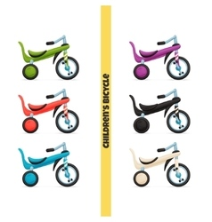 Childrens Bicycle Two vector image vector image