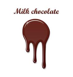 Chocolate drip splash chocolate liquid blot vector
