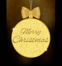 christmas ball made of glitters vector image
