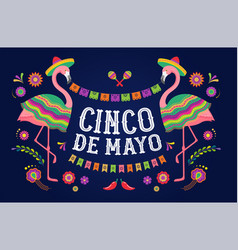 Cinco de mayo mexican fiesta banner and poster vector