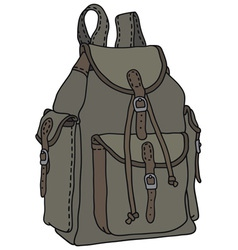 Classic rucksack vector