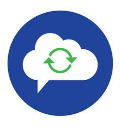 Cloud computing concept sync icon vector