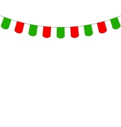 Decorative flags on greeting card template for a vector image