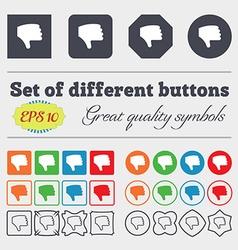 Dislike thumb down hand finger down icon sign big vector