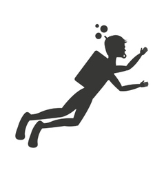 Diving sport isolated icon design vector