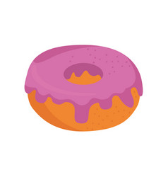Donut delicious dessert vector