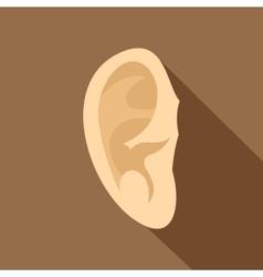 Ear icon flat style vector