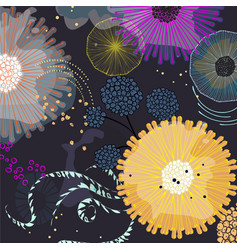 Exotic paradise natural pattern cool magical vector