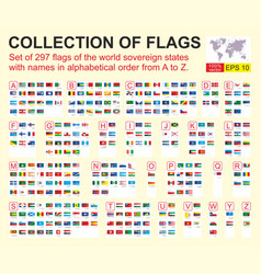 Flags all countries world vector