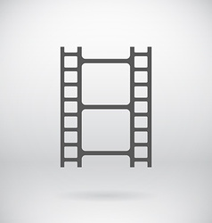 Flat Movie Film Strip Light Icon Symbol Background vector image