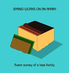 Fluent survey of a bee family spring work vector