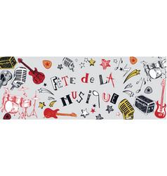 French music festival banner vector