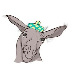 Funny donkey vector