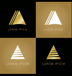 Golden triangle symbols vector