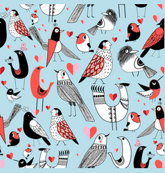 graphic seamless pattern of funny pictures of vector image