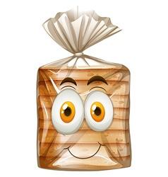 Happy face on bread vector image