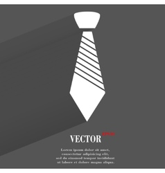 Hipster tie Flat modern web button with long vector