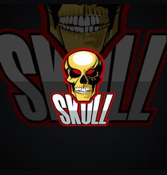 human skull logo image vector image