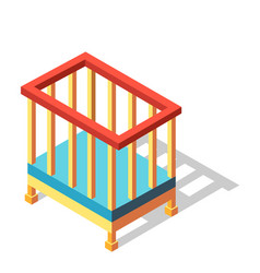 Infant bed isometric vector