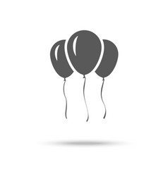 Inflatable balloons icon isolated on white vector