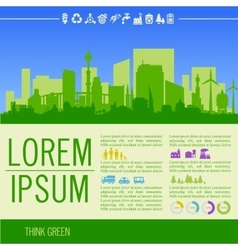infographics Green with vector image
