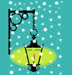 Lamp in the snow vector